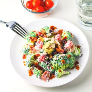 Broccoli Bacon Salad with Greek Yogurt Dressing
