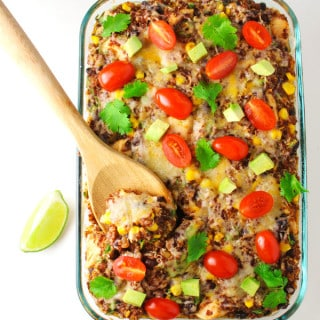 Chicken Quinoa Mexican Casserole