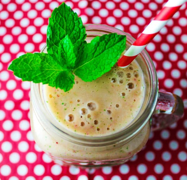 Strawberry Mint Smoothie-3