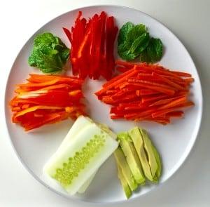Rainbow Veggie Spring Rolls by Tastefulventure.com
