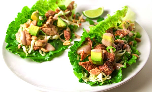 These Caribbean Jerk Chicken Lettuce Wraps are a quick easy meal plus it's Gluten Free since we're using Lettuce Wraps! by Tastefulventure.com