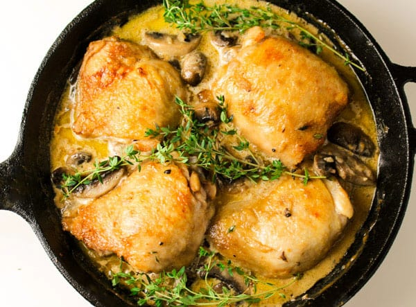 This Chicken Thighs Marsala dish can be made in about 30 minutes and is Gluten Free! by Tastefulventure.com