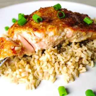 This Teriyaki Salmon is so easy to make, we made our own Teriyaki sauce using soy sauce, ginger, honey, brown sugar, lemon juice... by Tastefulventure.com #GlutenFree