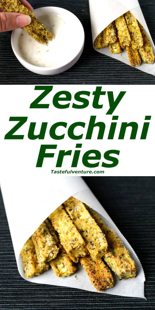 Zesty Zucchini Fries that are Low Carb, Gluten Free, and oh so Yummy! | Tastefulventure.com