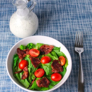 Skinny BLT Salad with Turkey Bacon