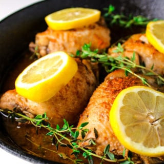 Lemon Paprika Chicken Thighs