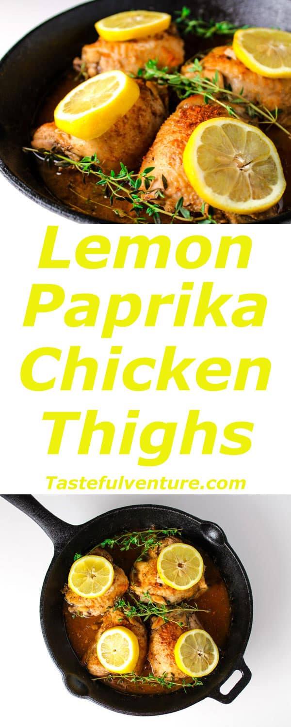 These Lemon Paprika Chicken Thighs are Low Carb and can be made in about 30 Minutes! | Tastefulventure.com