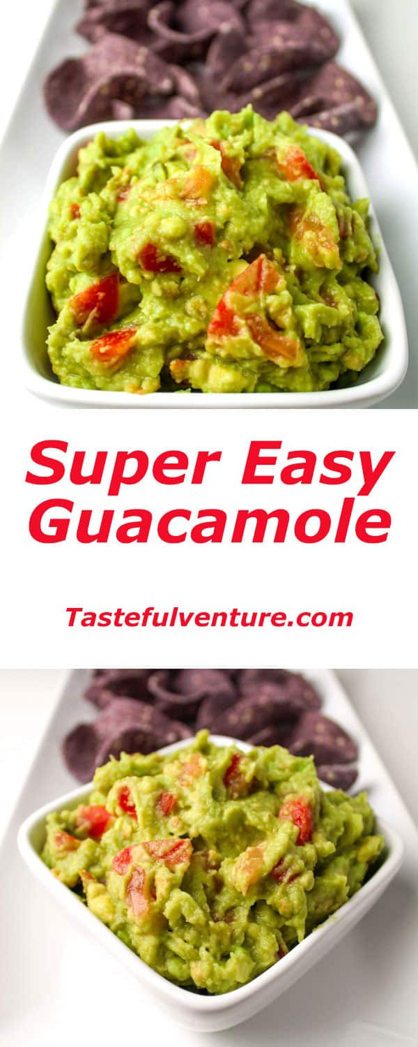 Super Easy Guacamole that can be made in under 10 minutes! | Tastefulventure.com