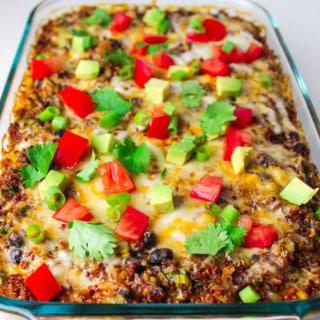 Easy Quinoa Enchilada Casserole