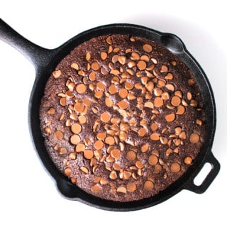 Easy Skillet Brownies (Gluten Free)