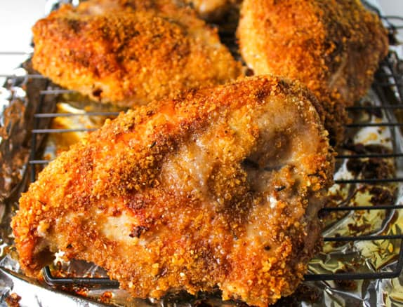 Gluten Free Oven Fried Jerk Chicken that is Healthy and Low Carb! by Tastefulventure.com