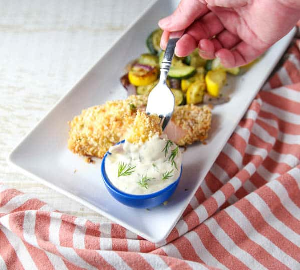 Baked Parmesan Crusted Salmon