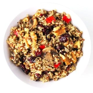 Cranberry Walnut Quinoa Stuffing