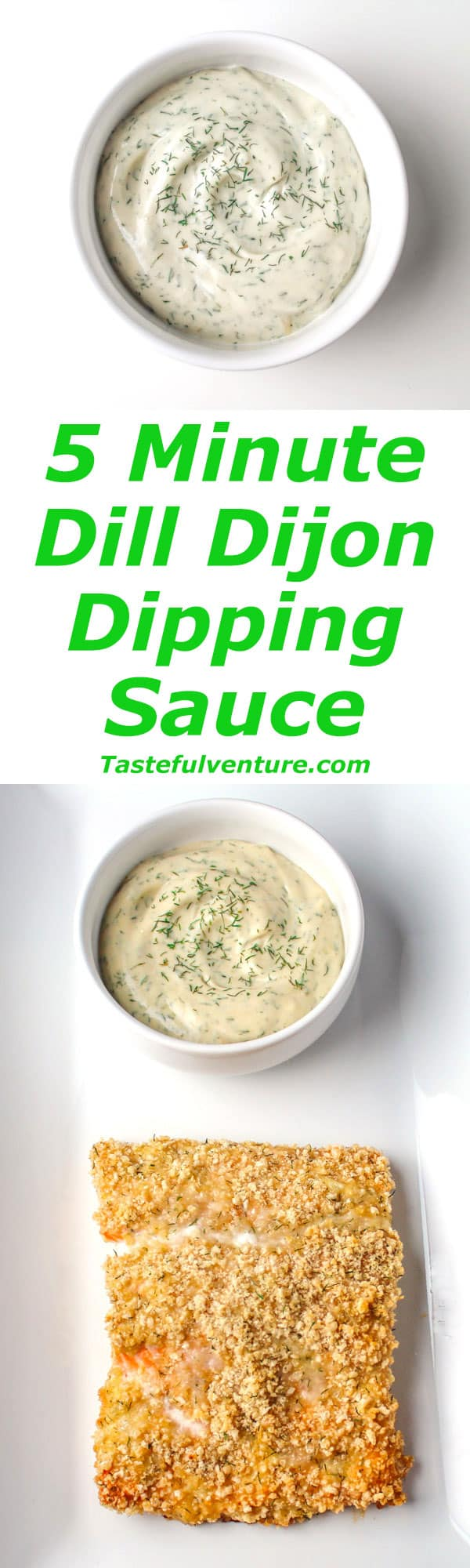 Dill Dijon Dipping Sauce that can be made in 5 Minutes, this is Dairy Free and Gluten Free too! | Tastefulventure.com