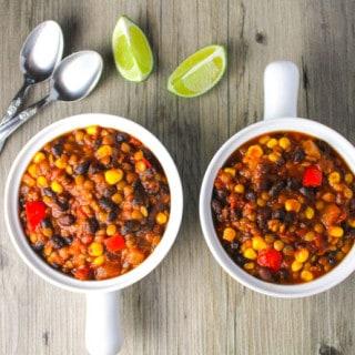 Lentil and Black Bean Chili