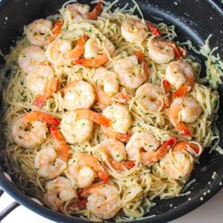 Shrimp Scampi Pasta (Gluten Free)