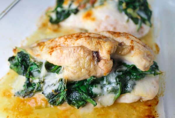 Baked spinach provolone chicken breasts tastefulventure these baked spinach provolone chicken breasts are low carb and so delicious so simple to forumfinder Gallery