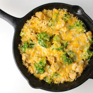 One Skillet Cheesy Chipotle Chicken Broccoli & Rice