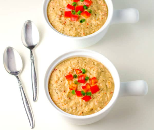 Roasted Red Pepper Cauliflower Soup that has around 300 Calories per ...