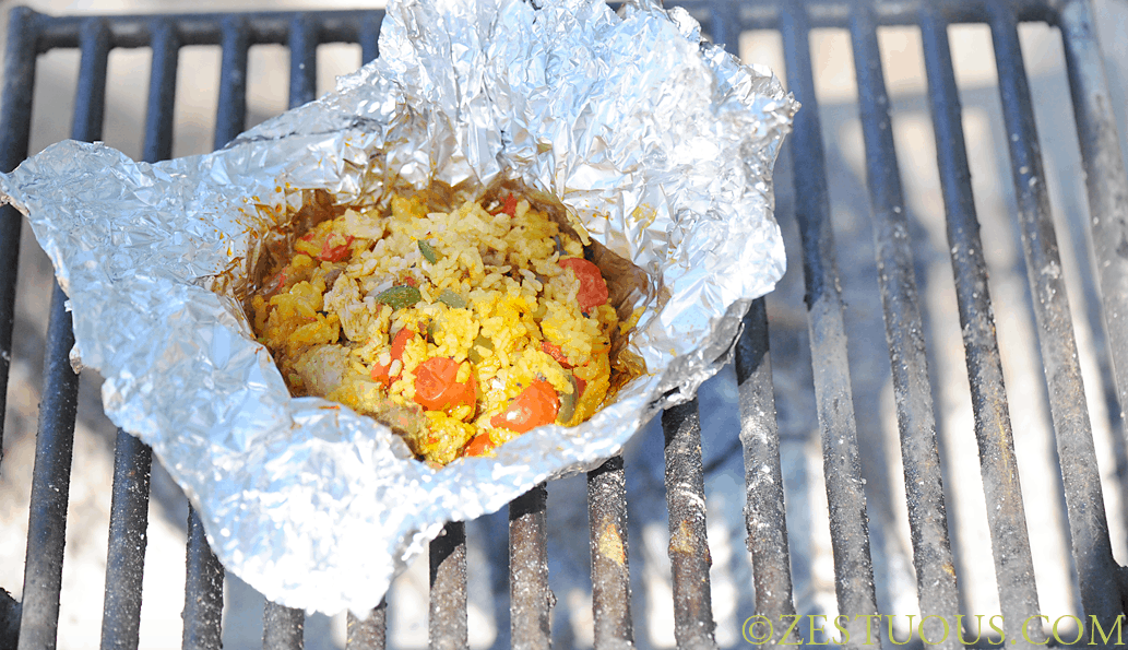 Campfire Paella | 15 Easy Foil Packet Recipes