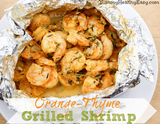 Orange Thyme Grilled Shrimp | 15 Easy Foil Packet Recipes