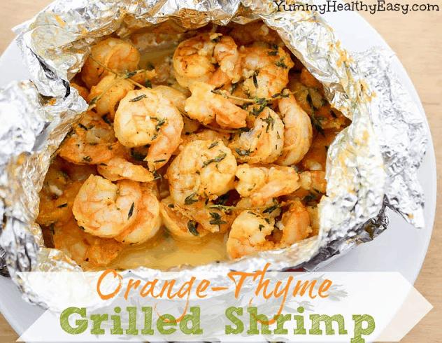 Orange Thyme Grilled Shrimp   15 Easy Foil Packet Recipes
