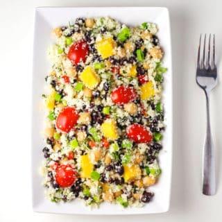 "Addicting Mango Cauliflower ""Rice"" Salad"