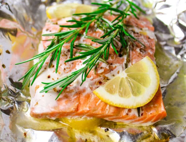 Baked Rosemary Salmon in Foil | 15 Easy Foil Packet Recipes