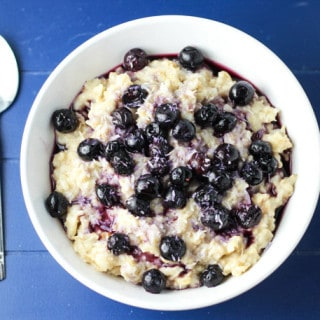 Blueberry Coconut Steel-Cut Oats (Gluten Free)