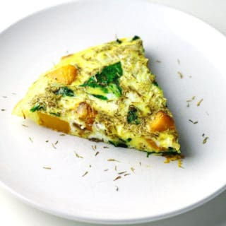 Butternut Squash and Spinach Frittata