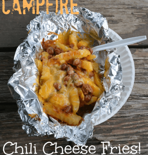 Campfire Chili Cheese Fries | 15 Easy Foil Packet Recipes