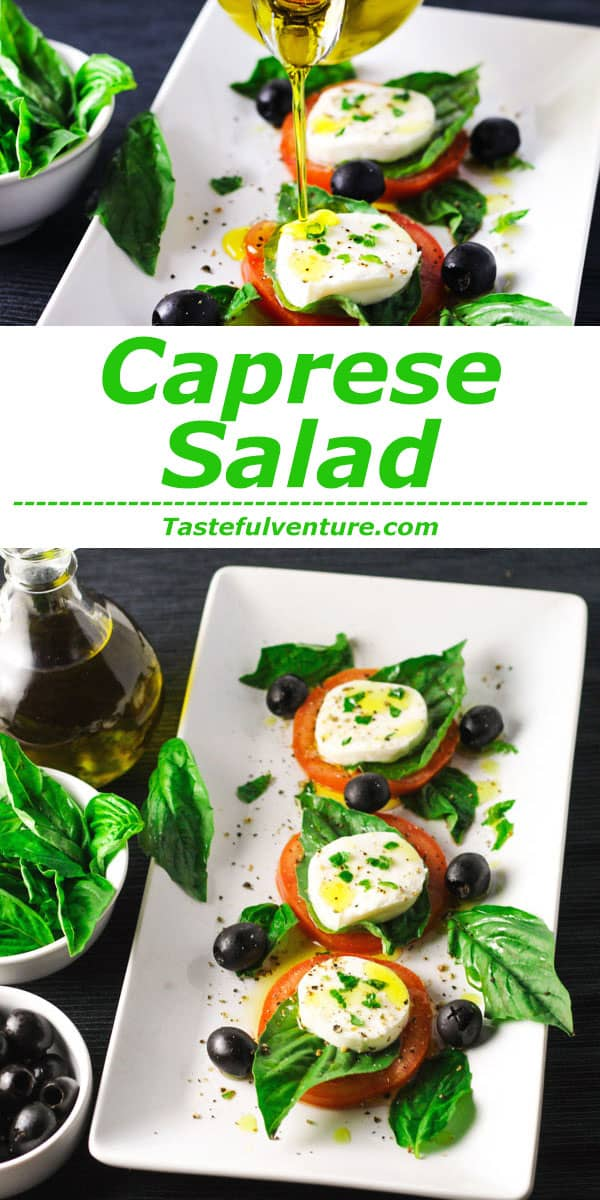 This Caprese Salad is super easy to make and is so good for you! | Tastefulventure.com