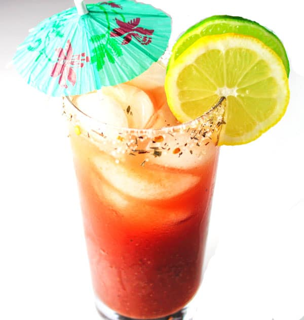 This Caribbean Bloody Mary will make you feel like you're in a Tropical Paradise! | Tastefulventure.com