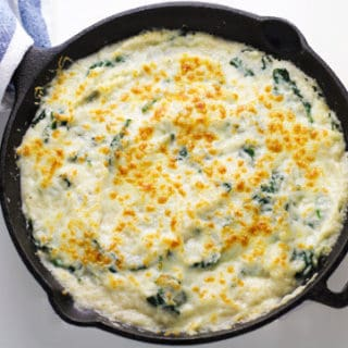 Cheesy Cauliflower Spinach Dip