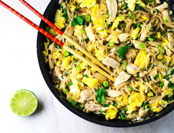 This Chicken Pad Thai is way better than Take-Out, and so simple to make! | Tastefulventure.com