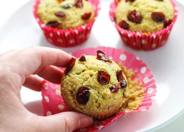 Delicious Cranberry Cornbread Muffins that are Gluten Free! | tastefulventure.com