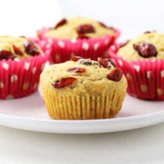 Cranberry Cornbread Muffins (Gluten Free)
