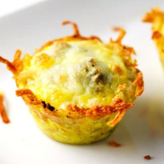 Easy Sausage Egg and Cheese Hash Brown Cups