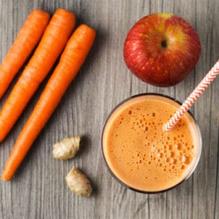Energizing Carrot, Apple, Ginger Juice