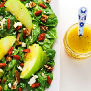Fall Harvest Salad with Goji Berries and Honey Apple Cider Vinaigrette