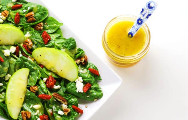 Fall Harvest Salad with Goji Berries and Honey Apple Cider