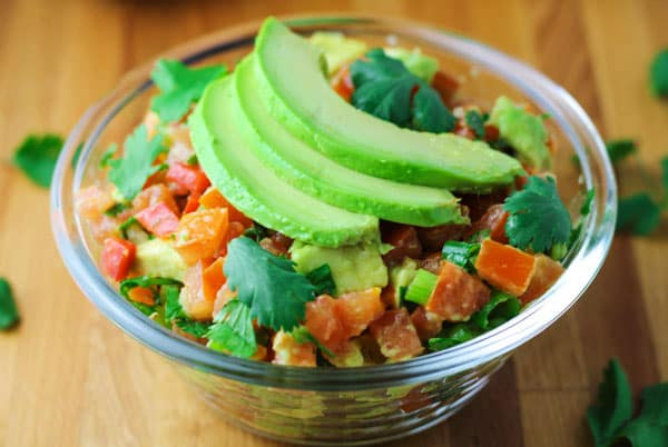 This Fiesta Avocado Salsa is a crowd favorite! It's perfect for your next holiday or get together! | Tastefulventure.com