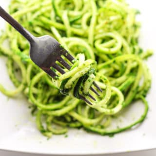 Vegan Kale Pesto with Zucchini Noodles