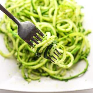 Vegan Kale Pesto with Zucchini Noodles