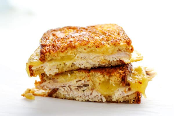 Leftover Turkey Gouda Grilled Cheese, a perfect way to use up those Thanksgiving leftovers! | Tastefulventure.com
