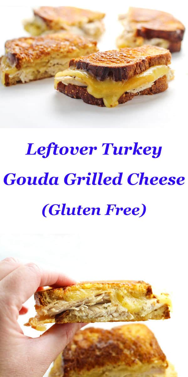 Leftover Turkey Gouda Grilled Cheese, a perfect way to use up those ...