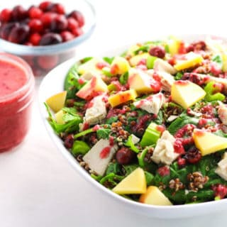 Leftover Turkey Quinoa Salad with Cranberry Vinaigrette