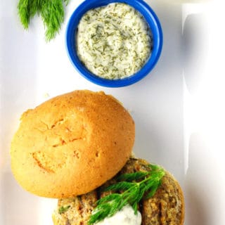 Lemon Dill Salmon Burgers