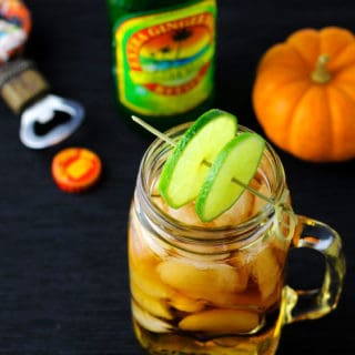 Mason Jar Dark and Stormy Cocktail