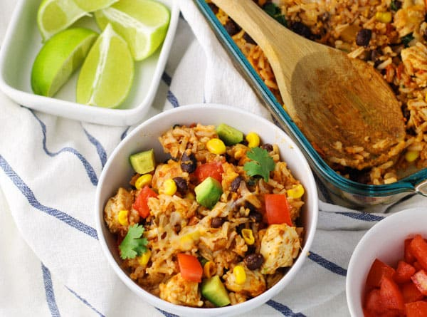 This Mexican Chicken and Rice Casserole is a family favorite! | Tastefulventure.com